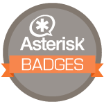 Asterisk Badges