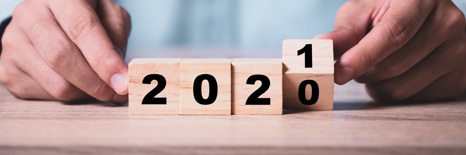 2020 on blocks being turned over to show 2021