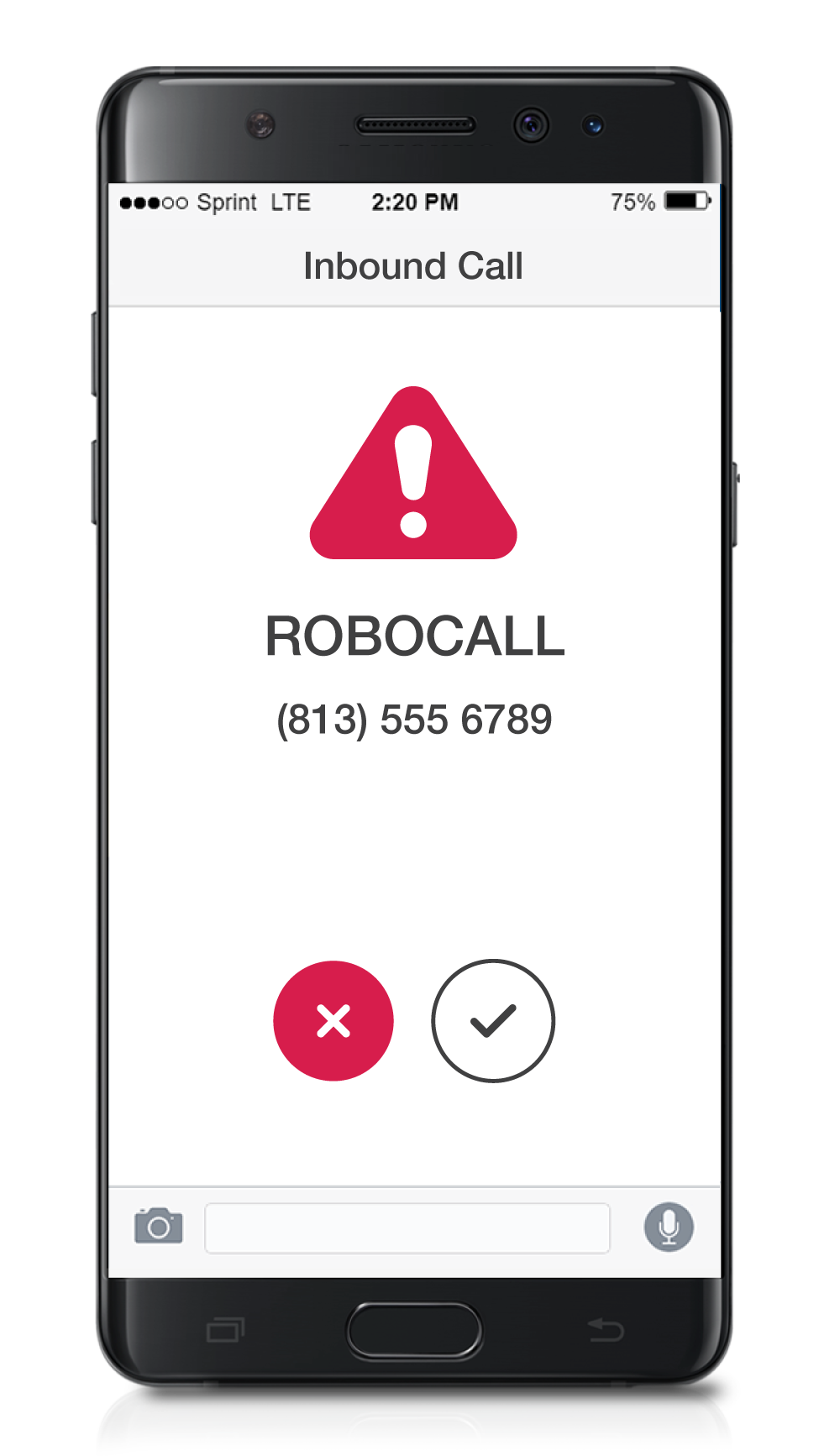 Robocall Image on a Mobile Device