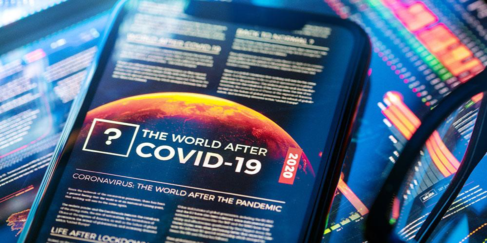 The World After COVID-19 Displayed on a Mobile Phone