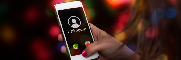 Unknown user displayed on mobile phone - Robocall mitigation