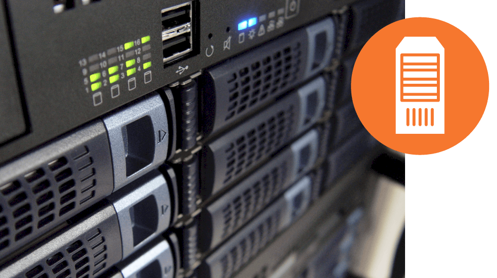Server stack with Server icon