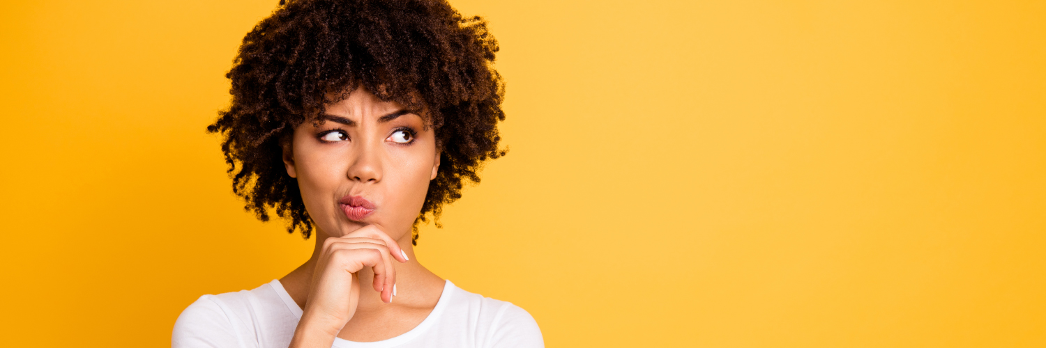Woman and yellow background