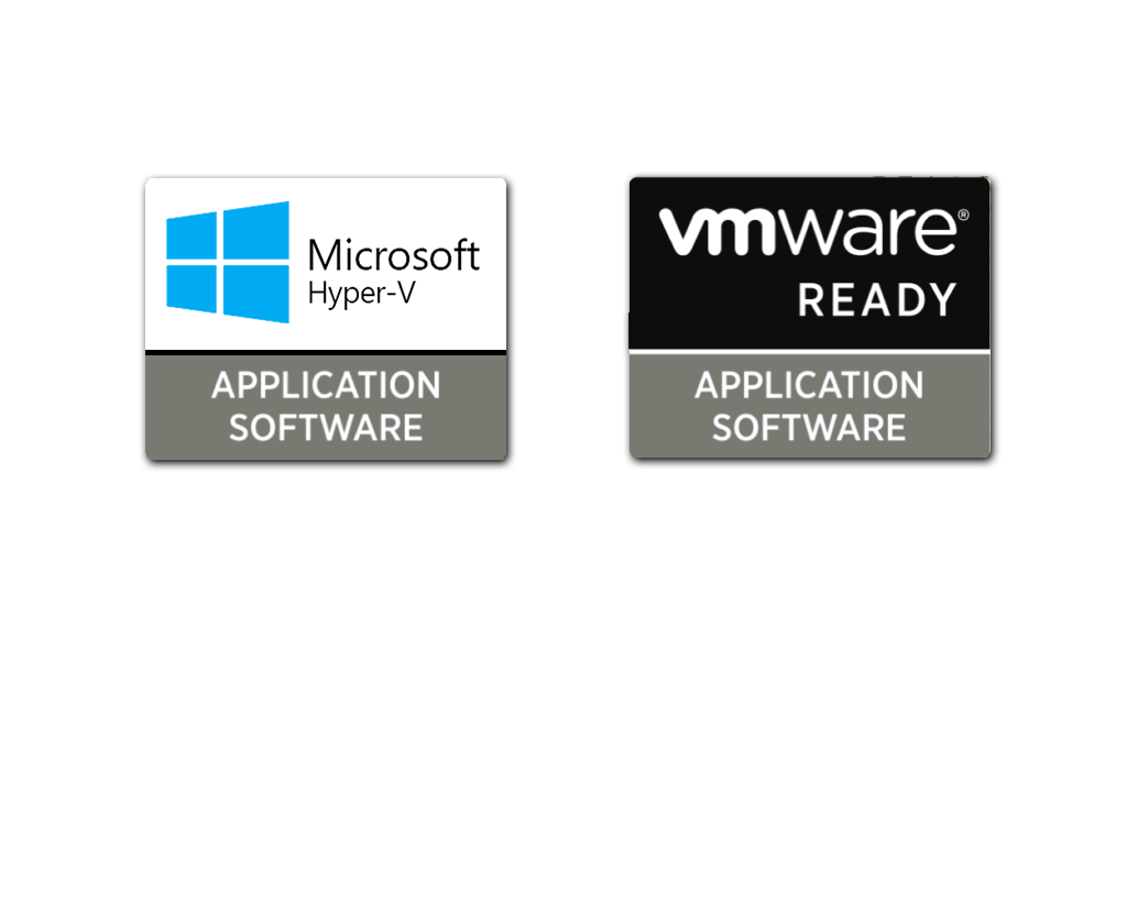 Microsoft Hyper-V and vmware Ready logos