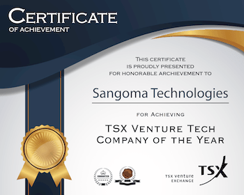 TSX Venture Tech Company of the Year - Sangoma