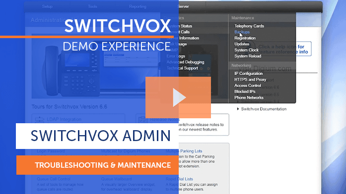Switchvox Demo Troubleshooting and Maintenance
