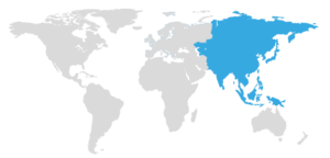 map with Asia highlighted