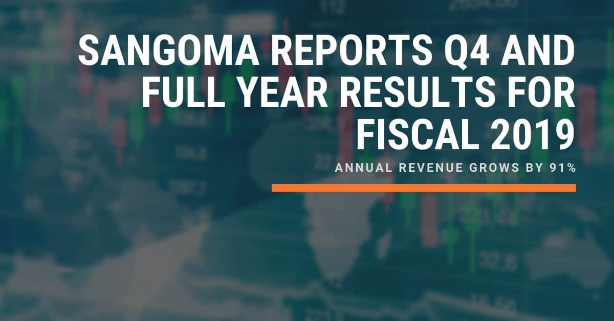 Sangoma Reports Q4 And Full Year Results For Fiscal 2019