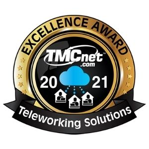 Sangoma awarded - Excellence Award - Teleworking Solutions 2021 from TMCnet