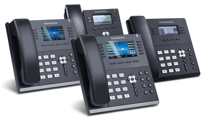 A Picture of our Deskphones