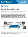 Security Starts with a Policy Cheatsheet